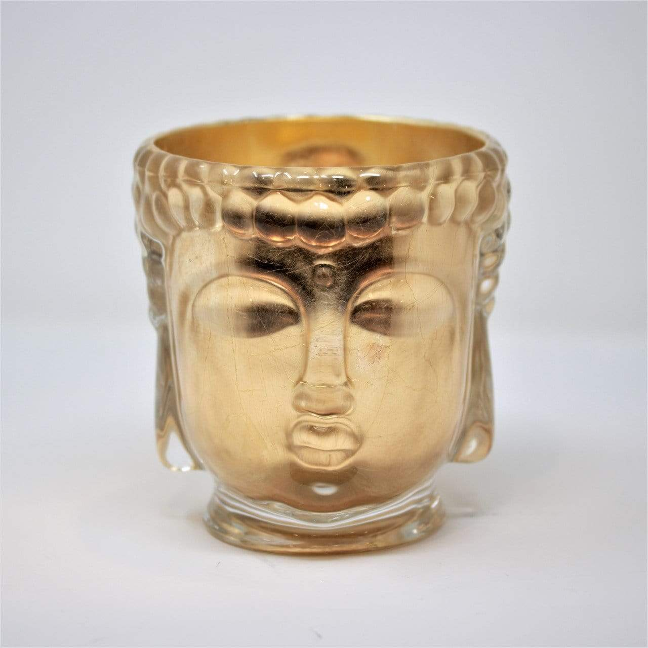 Croesus | Clear Glass Buddha Lined with 24K Gold