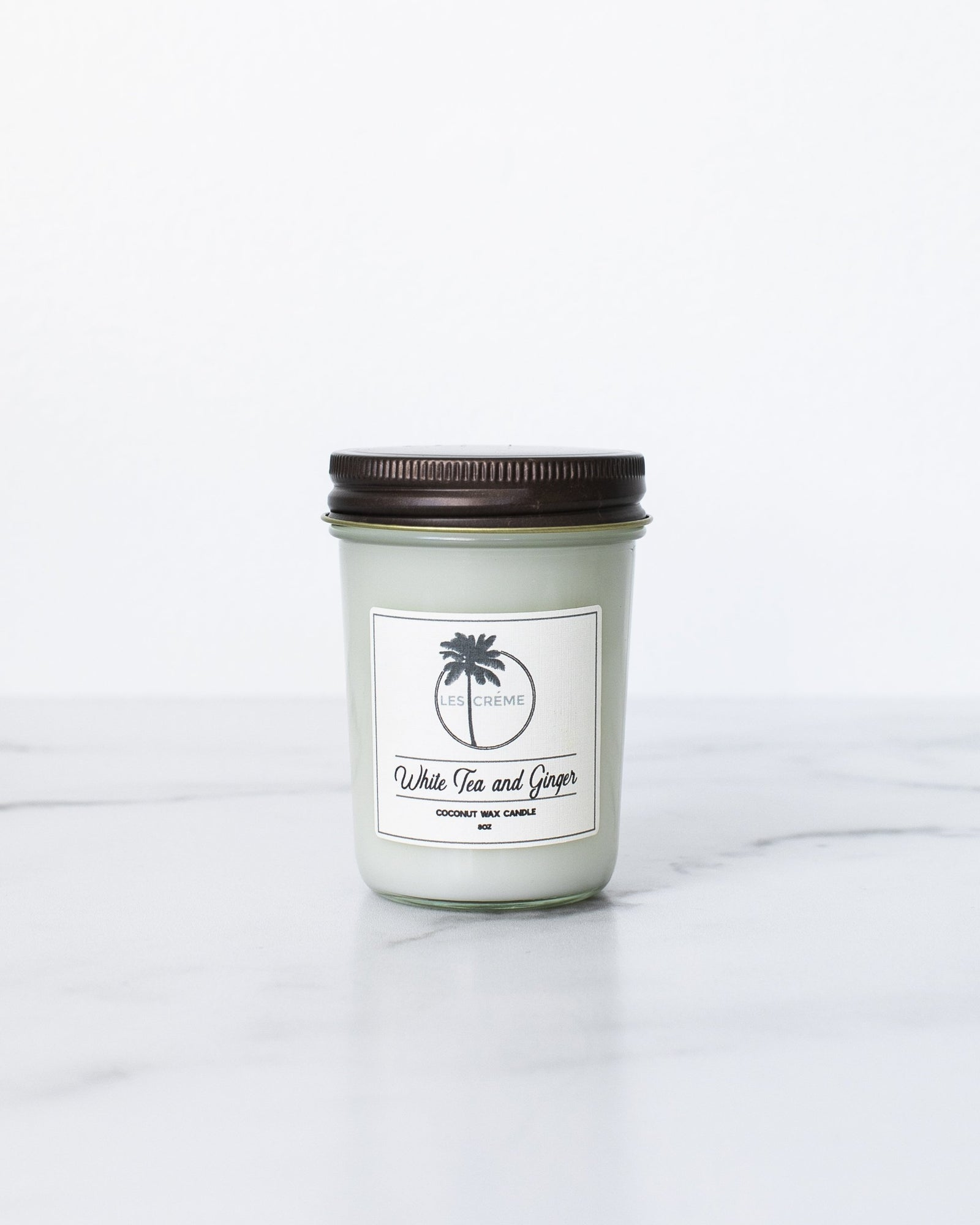 White Tea + Ginger Scent Coconut Wax Candle