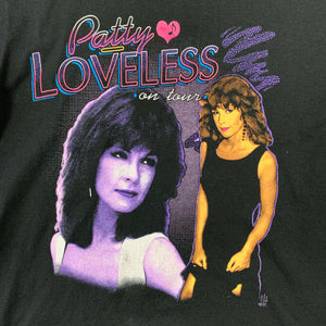 Rare Vintage 1992 Patty Loveless On Tour Country Music hip hop style Mens Black Tshirt