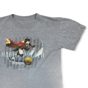 VINTAGE HARRY POTTER QUIDDITCH MENS GRAY TSHIRT