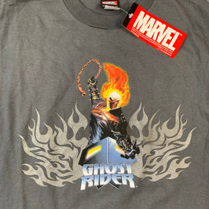 Marvel Comics Ghost Rider Movie Promo Nicholas Cage Mens Gray Tshirt S