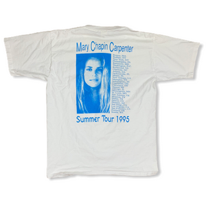 Vintage '95 Mary Chapin Carpenter Summer Tour 1995 Mens White Tshirt L