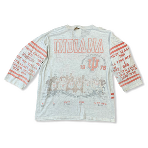 Vintage 1976 Indiana University Hoosiers Basketball Championship Distressed Mens Tshirt
