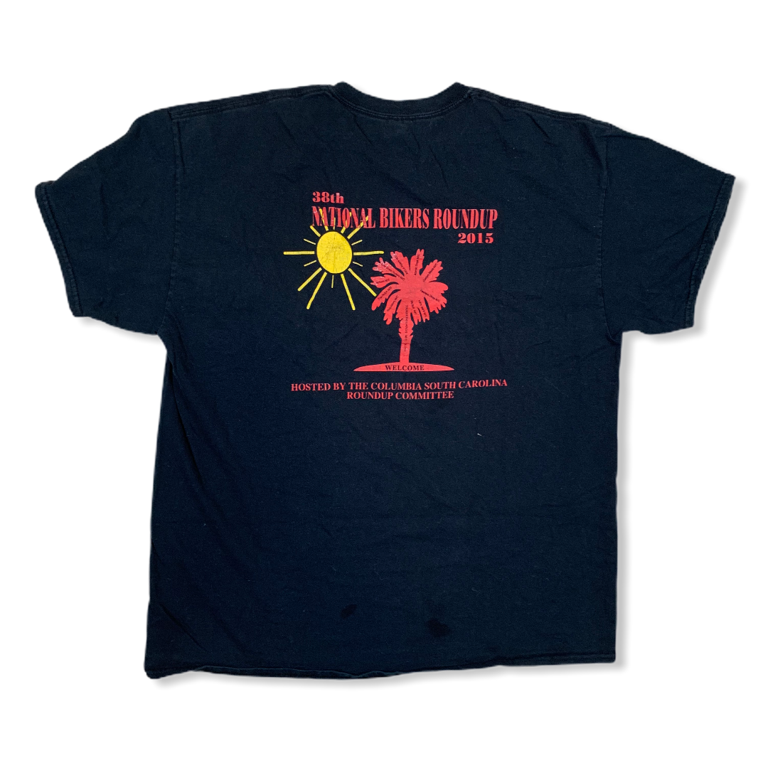 Y2K 2015 38TH NATIONAL BIKERS ROUND UP TSHIRT