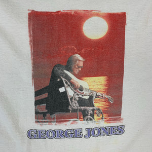 Y2K '04 George Jones I Saw George Jones in 2004 No Show Music Tour Mens White Tshirt XL