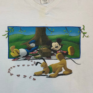Mickey Unlimited Disney Mickey Mouse Donald Duck Mens White Tshirt