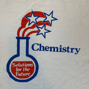 VINTAGE 90S HUMAN CHEMISTRY SOLUTIONS FOR THE FUTURE MENS WHITE TSHIRT