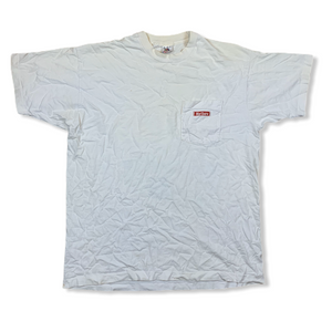 VINTAGE 90S MARLBORO COUNTRY STORE RODEO MENS WHITE POCKET TSHIRT