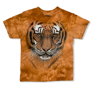 Y2K 3D TEES TIGER ORANGE TIE DYE MENS TSHIRT