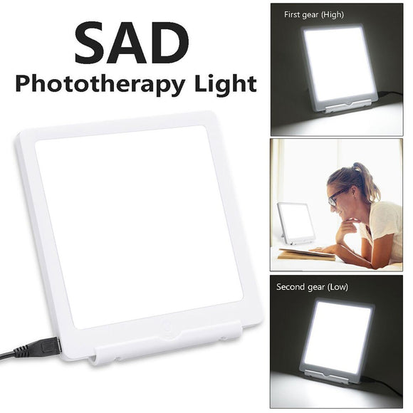 5W SAD Therapy Lamp Seasonal Affective Disorder Phototherapy 10000 LUX Simulating Natural Daylight USB SAD Therapy Light 1PC