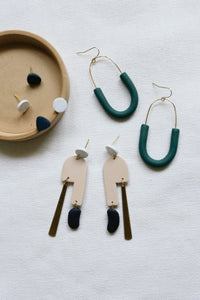 Studio Toujours Asymmetical Collection of polymer clay jewelry