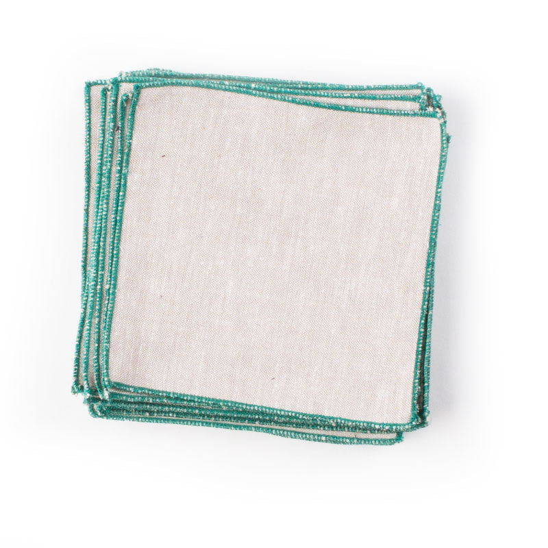 Spun In…Linens: Jade Cocktail Napkins