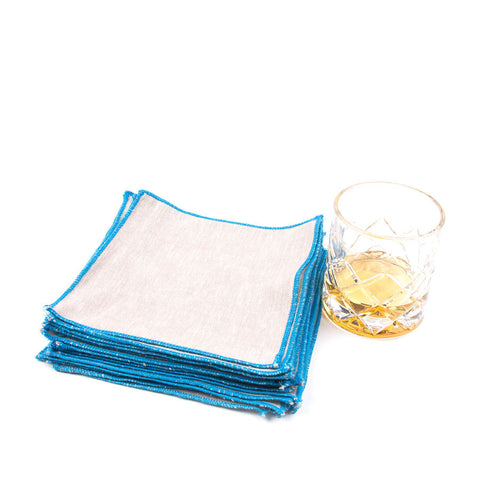 Spun in Neon Linens: Capri Cocktail Napkins