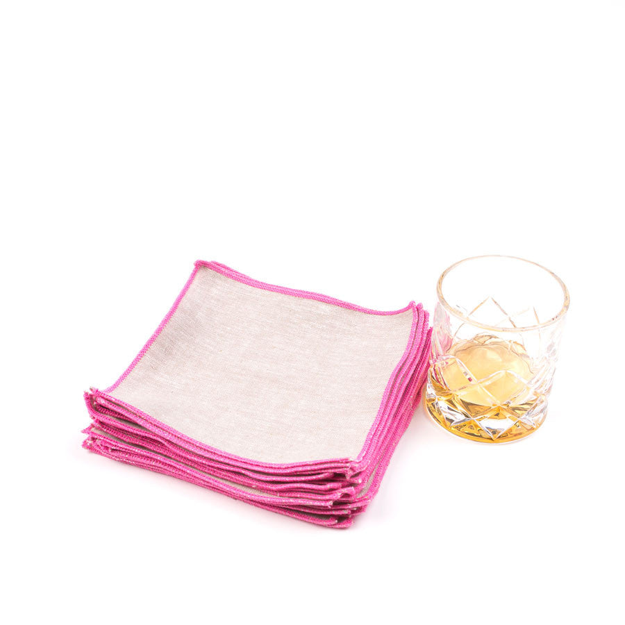 Spun in Neon Linens: Punch Cocktail Napkins