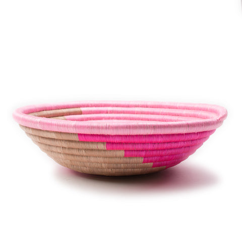 Hot Pink Plateau Basket