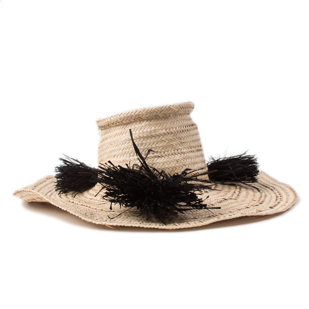 Pom Palm Woven Hat