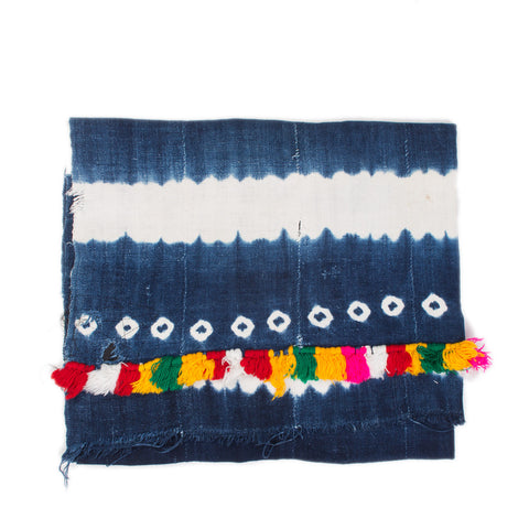 The Indigo Throw (with Colored Fringe)