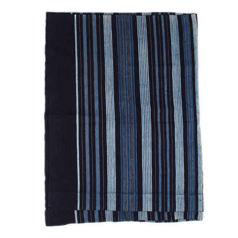 The Indigo Throw (Dark Blue/White Stripes)