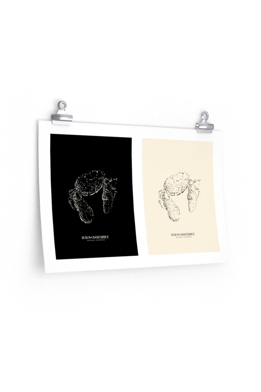 Black + White Crab Duo Portrait* Poster - Hausofassembly