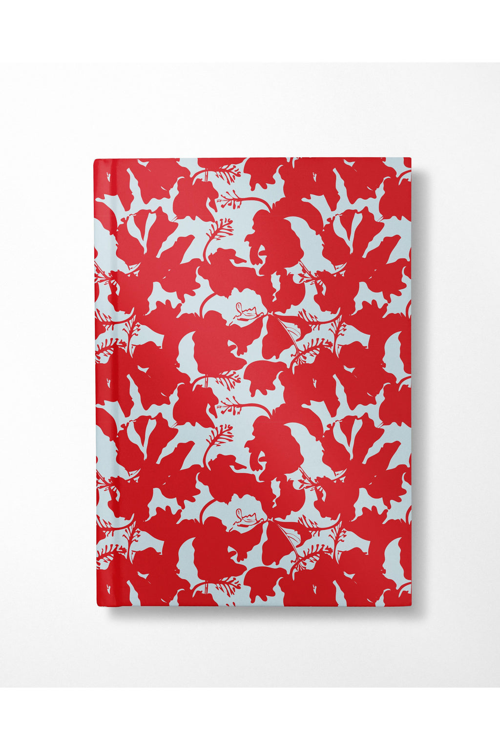 Hibiscus Notebook - Red+ Aqua - Hausofassembly