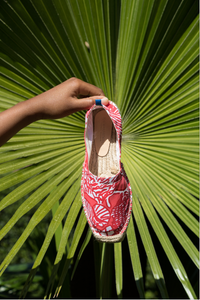 Renee Espadrilles Ragged Island Red Espadrilles - Hausofassembly