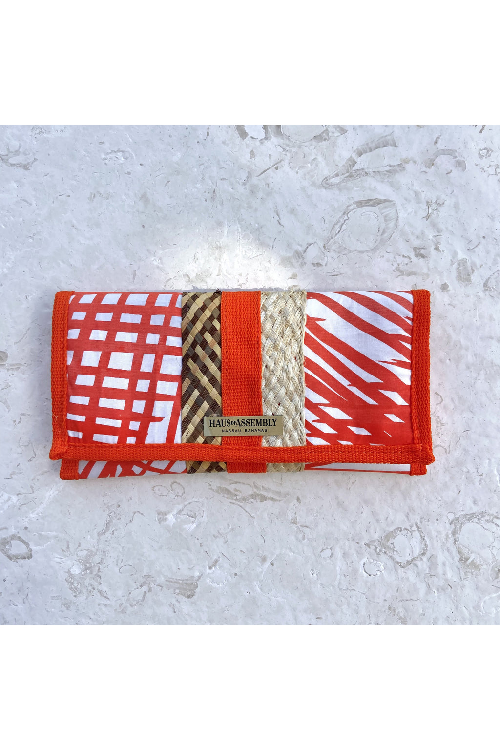 Orange Palm Fronds Printed Pouch - Hausofassembly