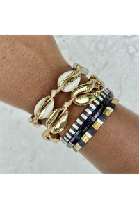 Gold Plated Cowrie Shell Bracelet Set - Hausofassembly
