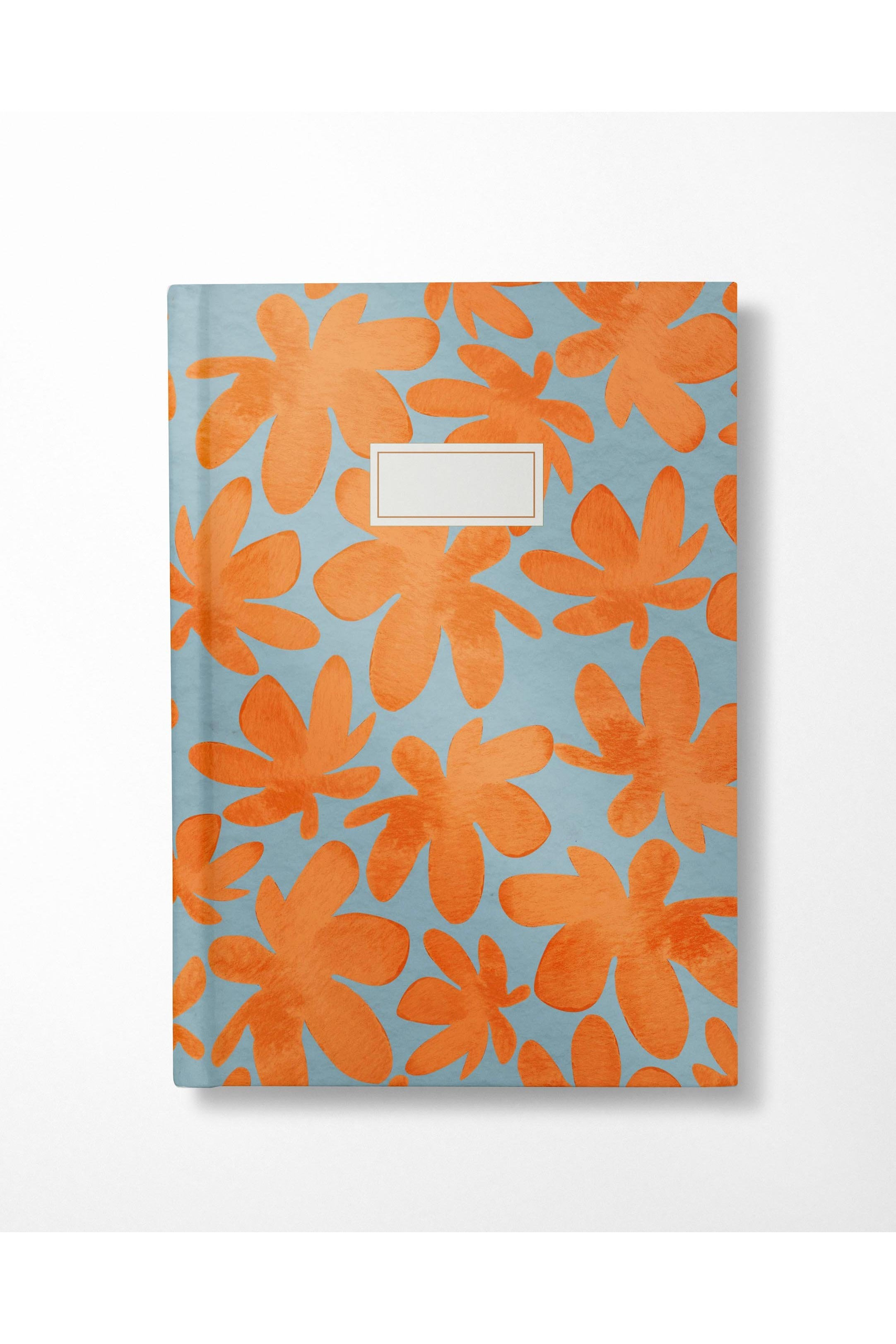 Watercolor Floral Journal- Blue and Orange - Hausofassembly