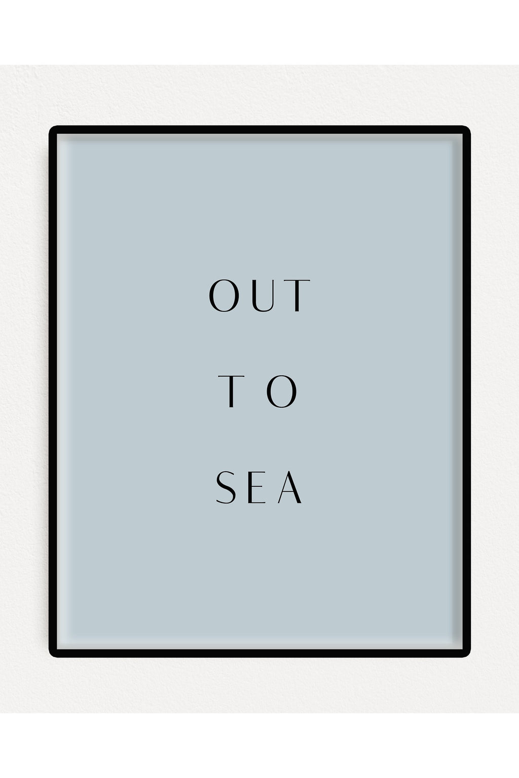 Out to Sea Art Print Poster Poster - Hausofassembly