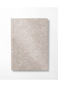 Swimming With The Pigs A5 Softcover Notebook - Black - Hausofassembly