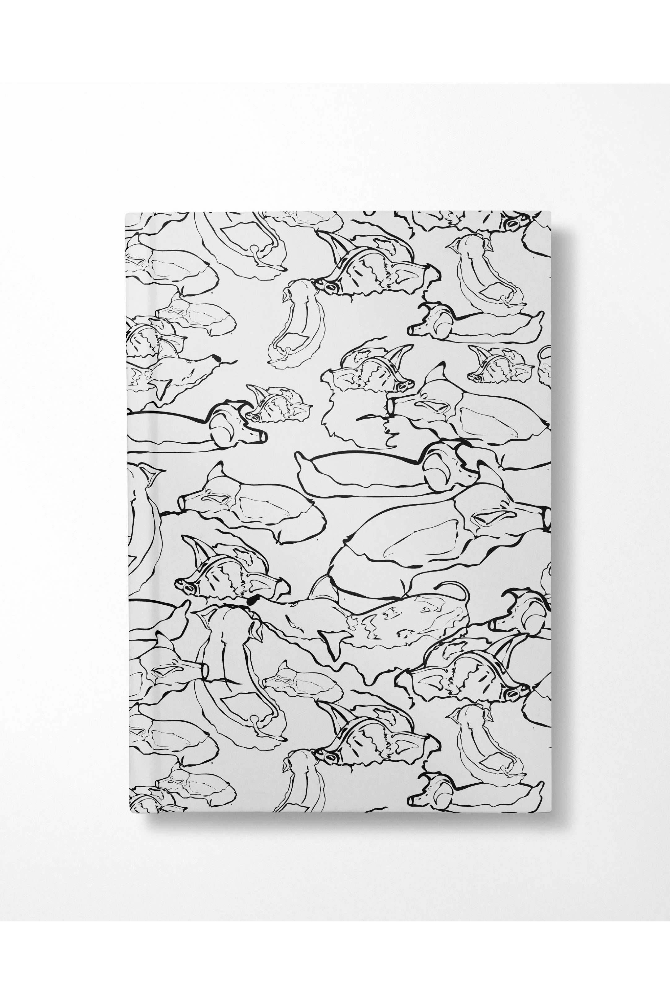Swimming With The Pigs Notebook - Black - Hausofassembly