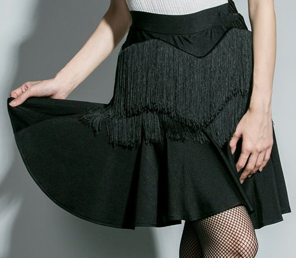 SOCIAL DANCE TASSEL LATIN SKIRT