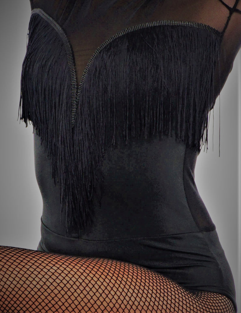 LONG SLEEVES TASSEL BODYSUIT/LEOTARD
