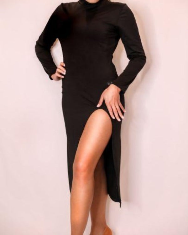 LONG SLEEVE SPLIT TANGO DRESS