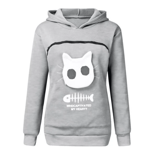 Cat Lovers Hoodie Cuddle Pouch - Buy 2 Get Free Shipping