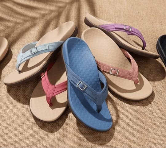 Vionic Thong Sandals with Buckle Detail - Buy 2 Get Free Shipping