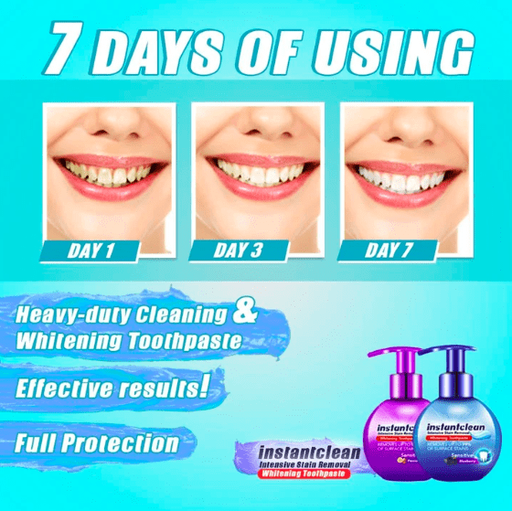 Instant Clean™ Intensive Stain Removal Whitening Toothpaste - LAST DAY PROMOTION