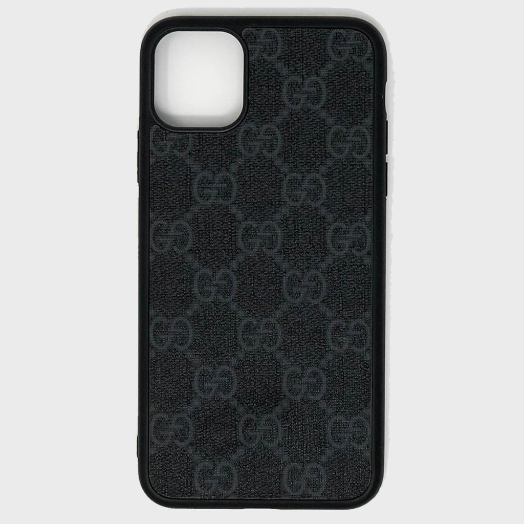 Black GG Repurposed iPhone Case - Cloud Accessories, LLC