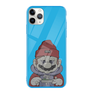 Blue High Mario iPhone Case