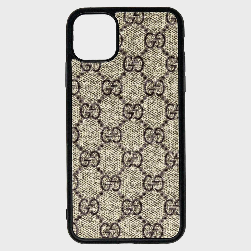 Brown GG Repurposed iPhone Case - Cloud Accessories, LLC