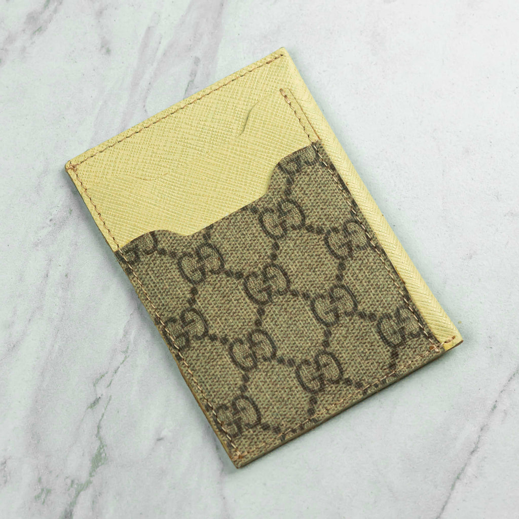 Brown GG Repurposed Card Holder