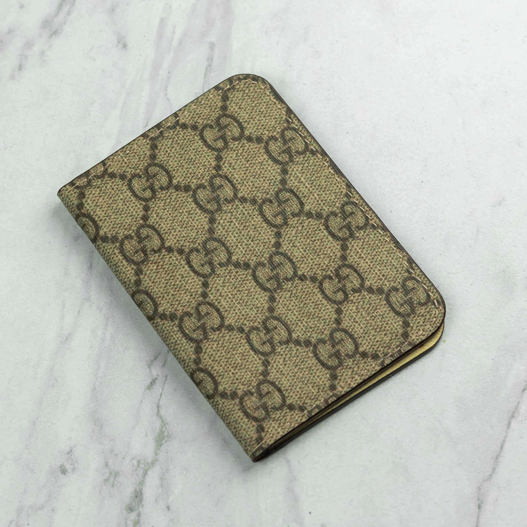 Brown GG Repurposed Folded Wallet