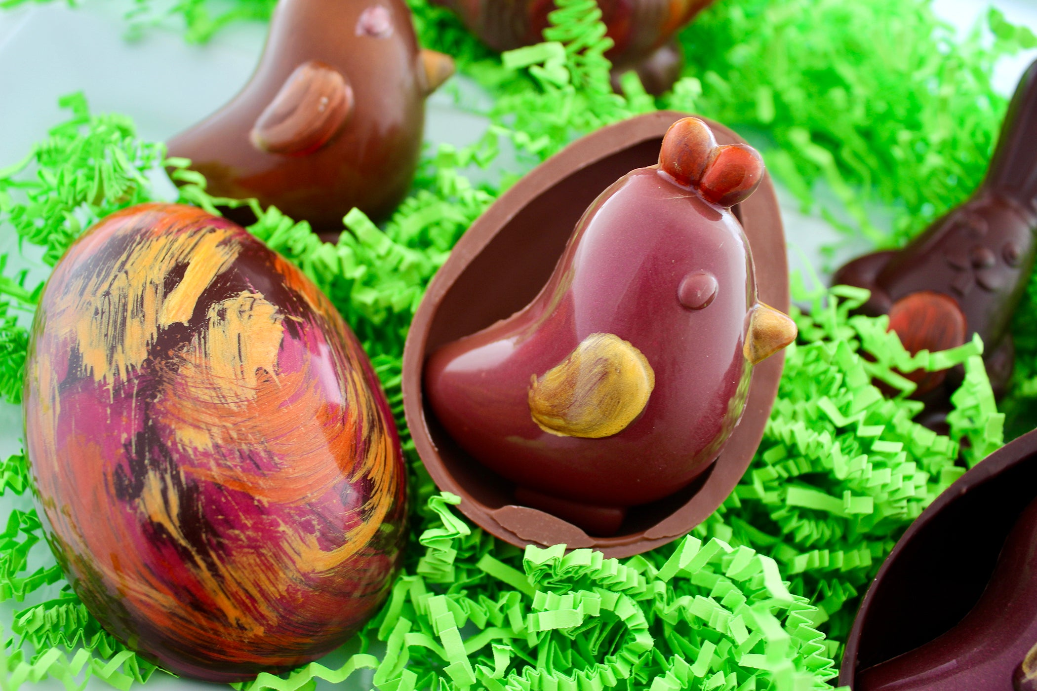 Chocolate Egg Filled With Chick