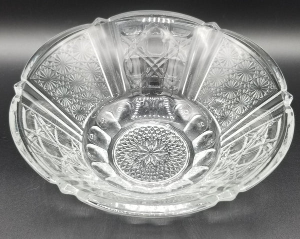 Antique Indonesian Clear Glass Bowl