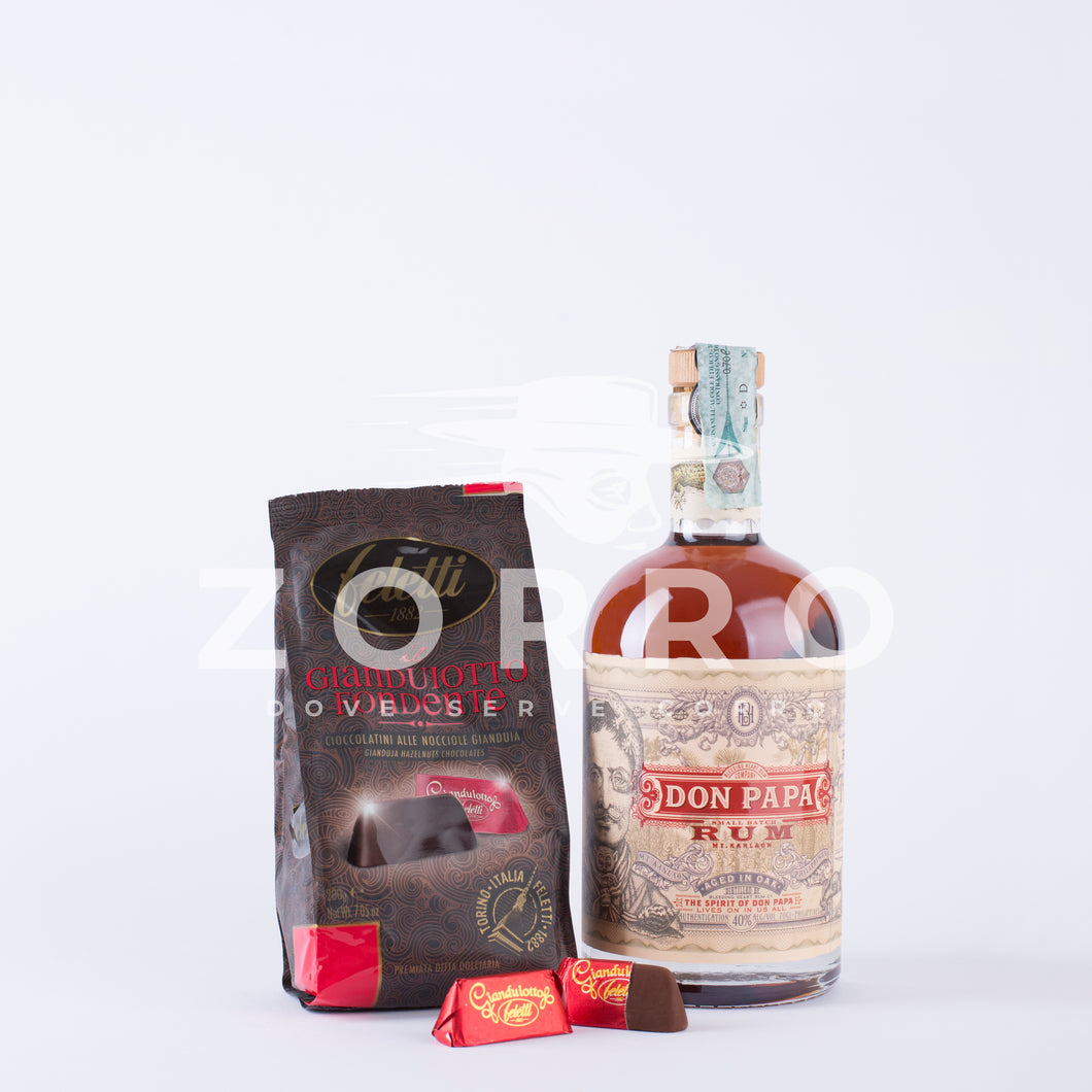 Don Papa Rum con Gianduiotto Fondente Feletti