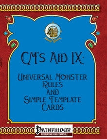 GM's Aid IX: Universal Monster Rules and Simple Template Card