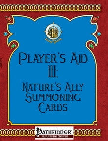 Player's Aid III: Nature's Ally Summoning Cards PDF