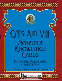GM's Aid VIII: Monster Knowledge Cards (Pathfinder RPG) PDF