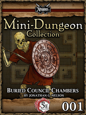 5E Mini-Dungeon #001: Buried Council Chambers PDF