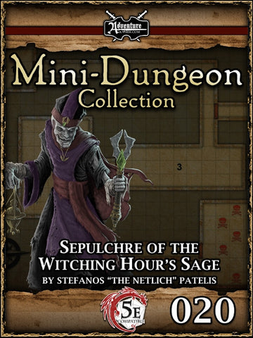 5E Mini-Dungeon #020: Sepulchre of the Witching Hour's Sage PDF